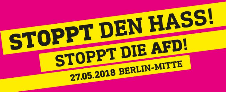 Stoppt den Hass - Stoppt die AfD